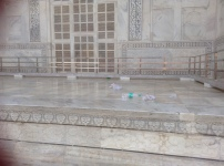 Trash behind the Taj Mahal Monument.. :/